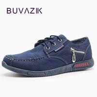 New Casual Canvas Men Shoes 2017 Hard Wearing Rubber Classic Denim Fabric Fashion Shoes Zipper Decoration