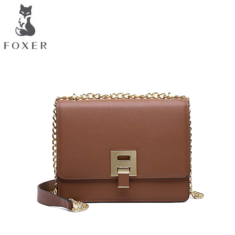 FOXER brand female bag Crossbody 2018 new new one-shoulder chain bag summer small square bag цена