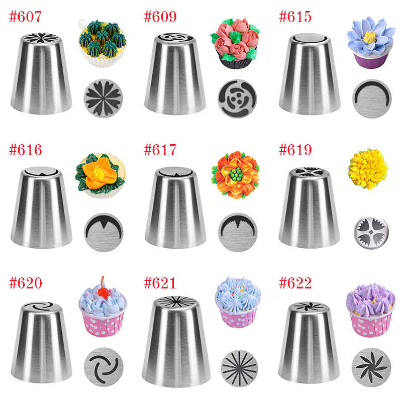 27 style Russian Tulip Icing Piping Nozzles Stainless Steel Flower Cream Pastry Tips Nozzles Cupcake Cake Decorating Tools