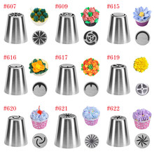 27 style Russian Tulip Icing Piping Nozzles Stainless Steel Flower Cream Pastry Tips Nozzles Cupcake Cake Decorating Tools(China)