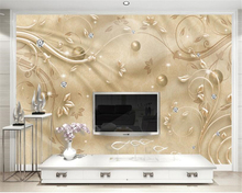 beibehang wallpaper for walls 3 d European fashion high-level wallpaper golden pattern TV backdrop high-end papel de parede