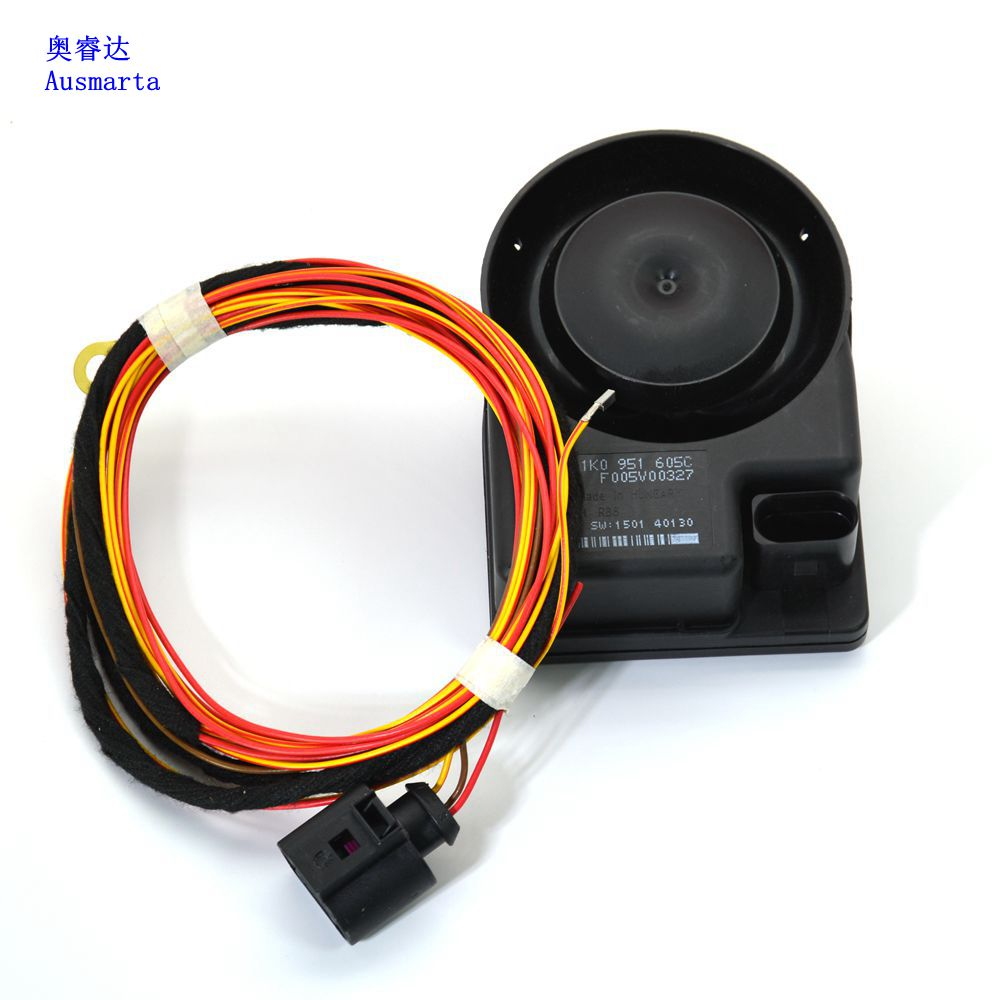 1-2 Pcs OEM Car Security Alarm Speaker/Horn For VW golf 6 mk6 PASSAT B6 TIGUAN CC Octavia Touareg 1K0 951 605 C 1K0951605C oem new rcd310 1k0 035 186an 1k0 035 186 ar for bosch vw