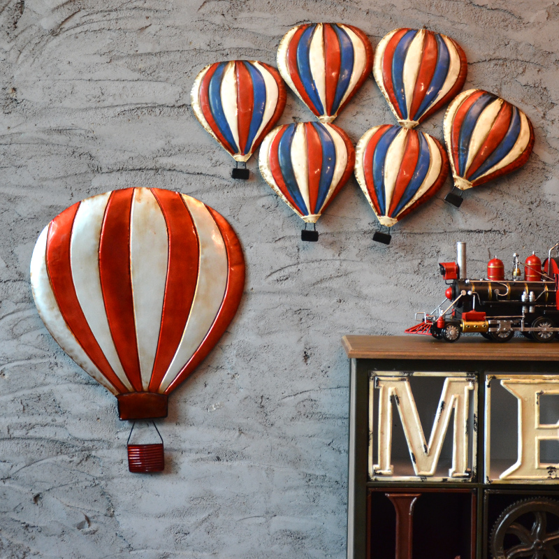 American Style Handmade Metal Iron Retro Hot Air Balloon