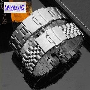 Image 3 - Mens stainless steel original bracelet. Substitute for SEI KO Seiko skx007 009 SKX175 SKX173 watch band 22mm