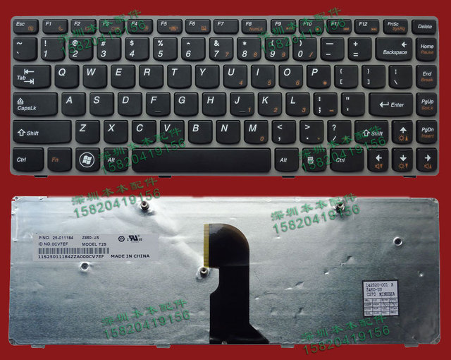 US $58 5 |High quality NEW Laptop Keyboard FOR Lenovo Z450 US version Black  Keyboard 100% Tested Perfect Working-in Replacement Keyboards from
