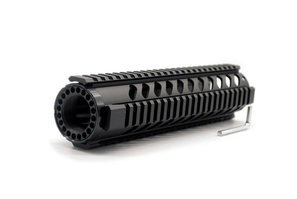 M16 10''Inch Black Quad Rail Handguard Picatinny <font><b>Tube</b></font> For <font><b>AR15</b></font>/ M16 Rifles Hunting Free Shipping image