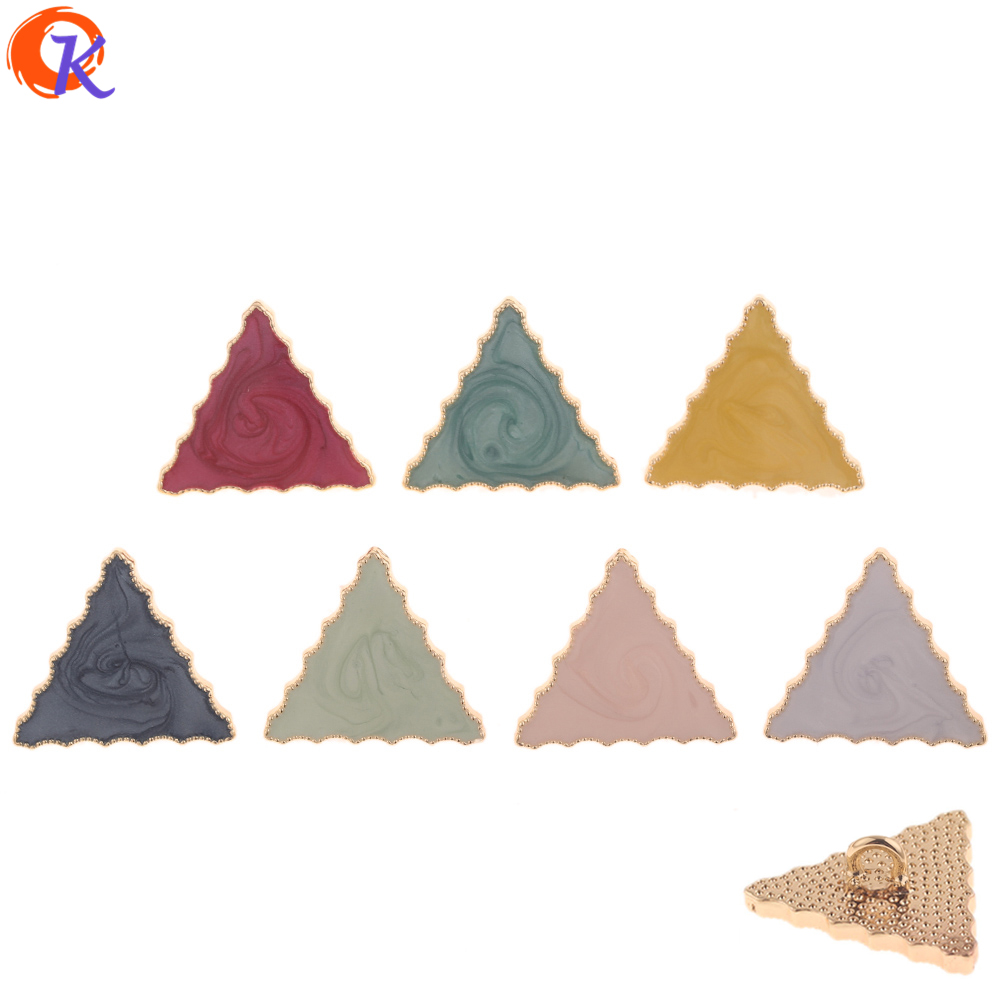 Cordial Design 30Pcs 26*30MM Jewelry Making/Hair Accessories/Triangle Shape/Paint Effect/Hand Made/Jewelry Findings Component(China)