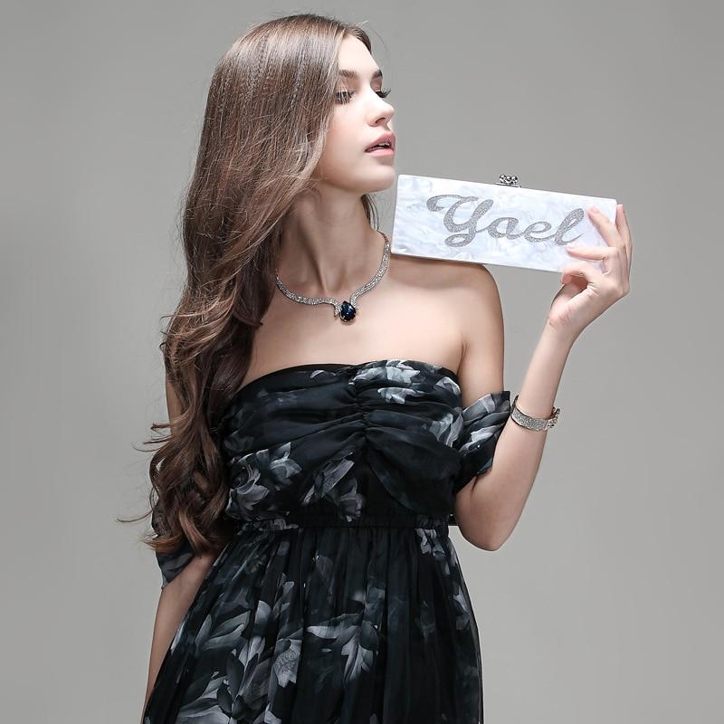 Handmade Acrylic Clutch Customized Name Bag Unique Letter Handbag Evening Bag Wedding Bridesmaid Bag Mini Box Wallet Purse цены