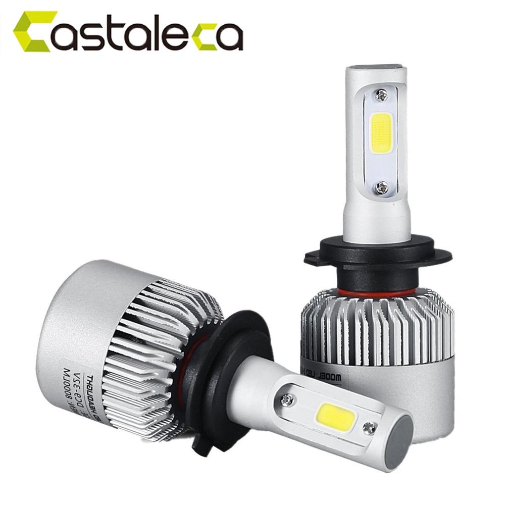 Castaleca Super licht Led H7 H4 9005 HB3 9006 H3 H11 H13 9004 9007 Auto Scheinwerfer 6500 Karat 8000LM Hallo-Lo/Auto Led birne