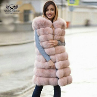 Female coat real fox fur vest 2018 New Natural fox fur waistcoat warm winter Gilet Natural fur coat pretty real fur coats jacket