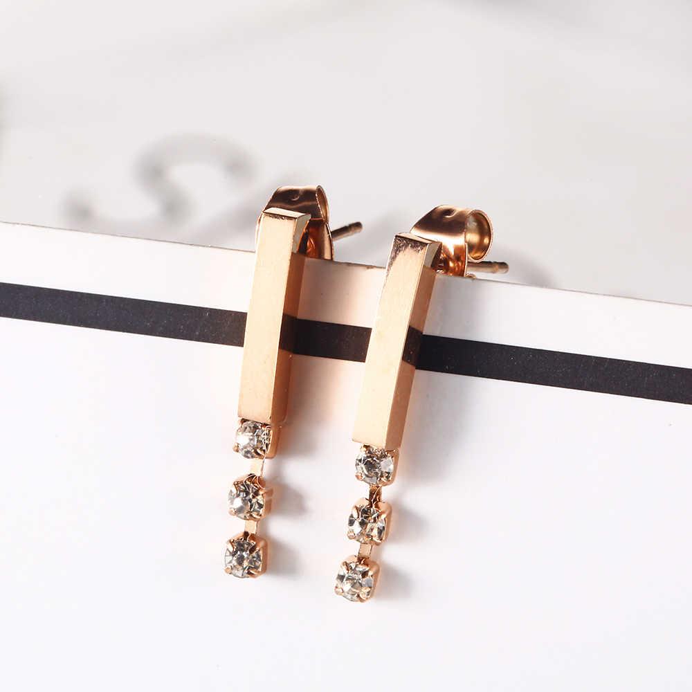 OUFEI ювелирные изделия из нержавеющей стали женские серьги-гвоздики для женщин модные ювелирные аксессуары серьги из розового золота оптом много
