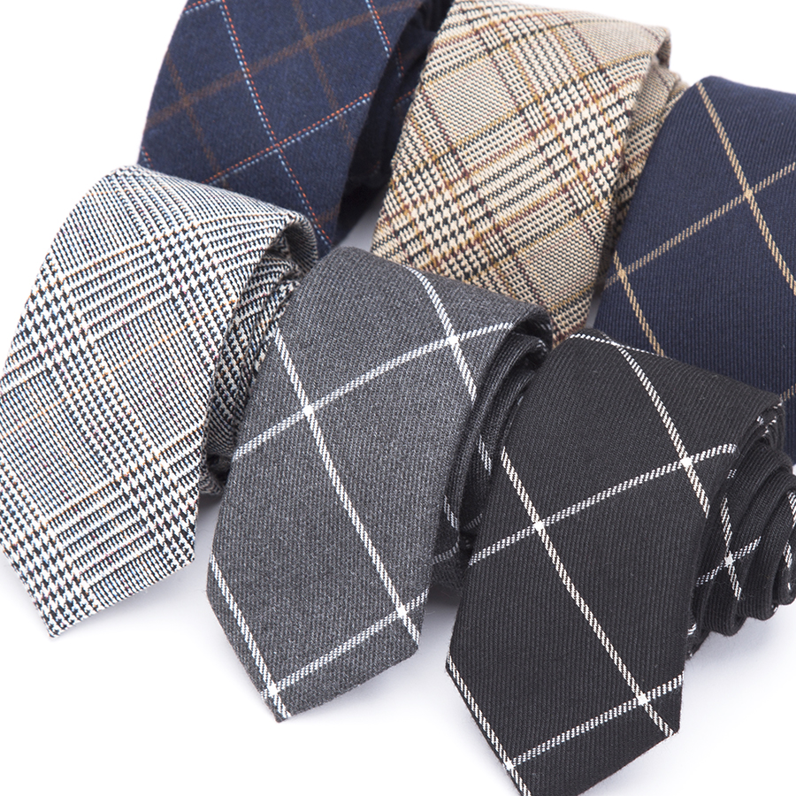 Mens Necktie Fashion Wool Ties For Men Skinny Casual Corbata Slim Striped Necktie For Wedding Gift Cravat Shirt Accessories Tie