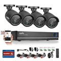 SANNCE 4CH 720P CCTV Kit 4PCS Surveillance Camera 1200TVL IR outdoor Video Recorder System For Security Protection