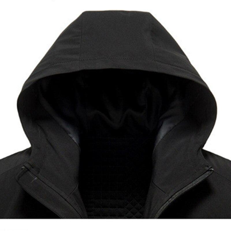 Новое поступление 2019, мужские тренчи, Мужские осенне зимние модные пальто, Мужская ветровка, высокое качество, черное пальто, Повседневное п... - 4