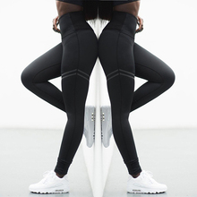 High Stretchy Gym Tights Energy Seamless Tummy Control Yoga Pants High Waist Sport Leggings Stitching Running