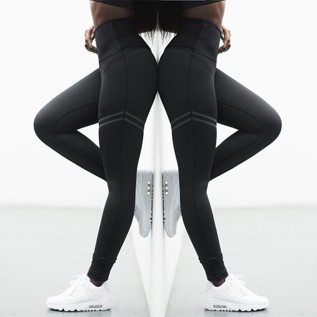 682888939e5fc4 High Stretchy Gym Tights Energy Seamless Tummy Control Yoga Pants High Waist  Sport Leggings Stitching Running