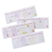 1pack/lot Kawaiii Memo Weekly Plan Mini Memo Pad N Times Self Adhesive Schedule Sticky Notes Stationery For School And Office все цены