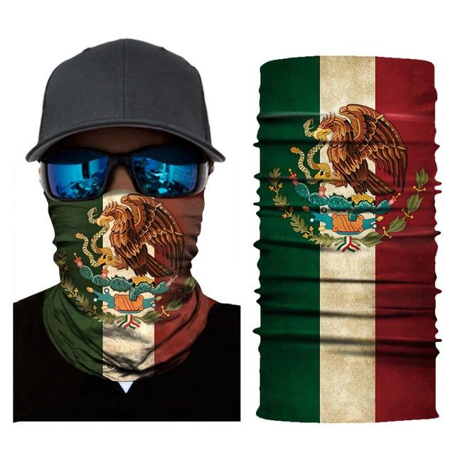 3D moto mask Cycling Head Scarf Neck Warmer Half Face Mask Motorcycle Ski Balaclava Headband Outdoor Face shield Sun Protection 3
