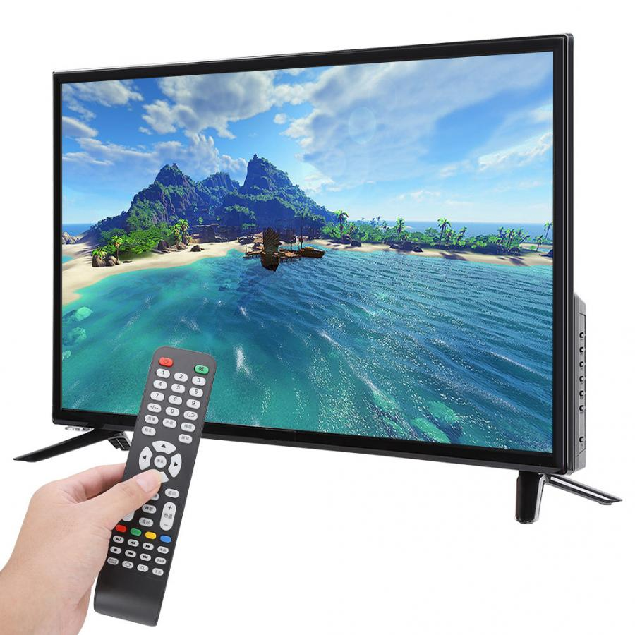 43'' TV HD 1080P LCD Television DVB-T2 Flat Screen LCD Smart TV Black TV Edition 75W 60HZ HDR Real-time with HDMI/USB/RF/AV Port(China)