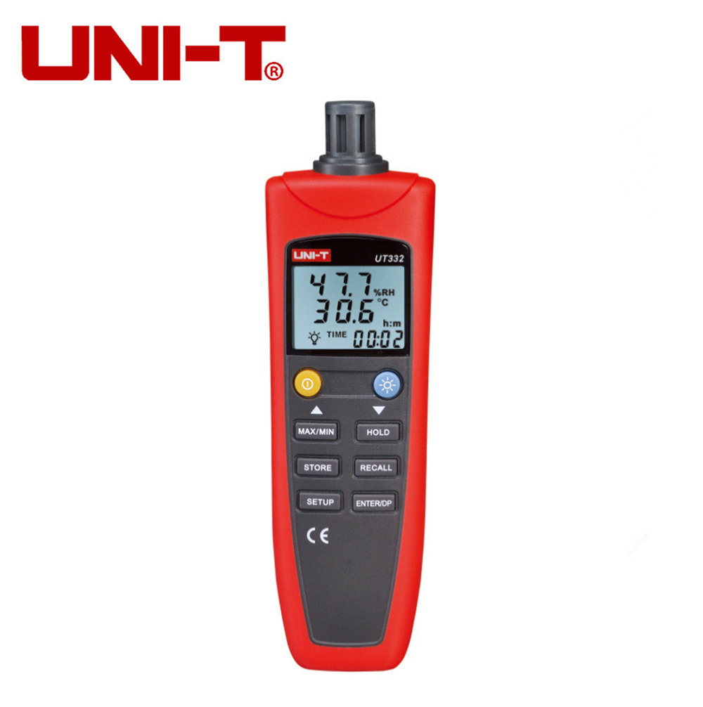 UNI-T UT332 Digital Thermo-hygrometer Thermometer Temperature Humidity Moisture Meter Sensor w/ USB & Power Saving Mode  цены