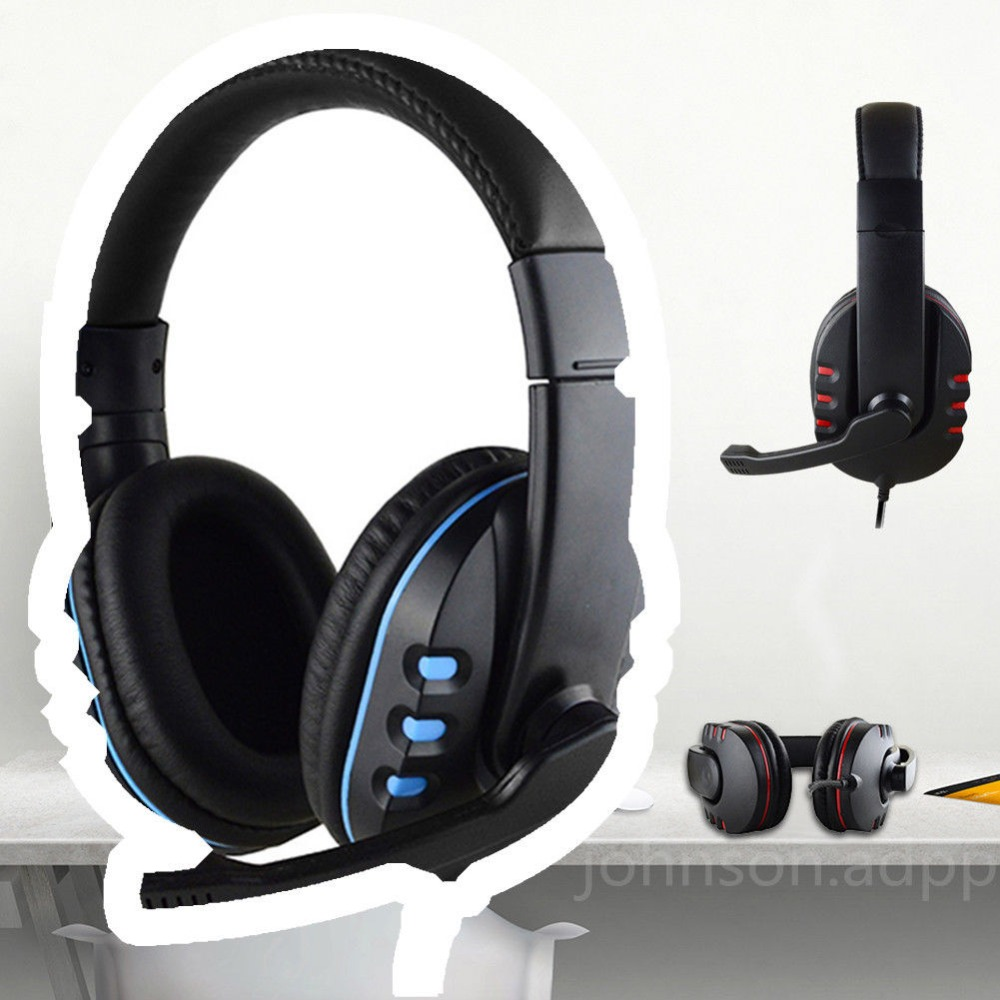 For PS4 3.5mm Earphone Gaming Headphone Stereo Headset LED Light with Mic for PS4 Xbox One Gamer Headphone