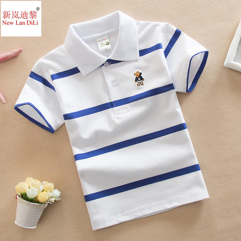 High Quality Kids Polo Shirts Children Gift Boys Girls Clothes White Red Yellow Colors Short Sleeve Children Shirts Fast Ship
