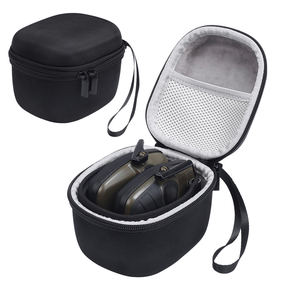 Carrying Hard Box Cover Pouch Case for Howard Leight Impact Sport OD Electric Earmuff - Includes Mesh Pocket for Accessories