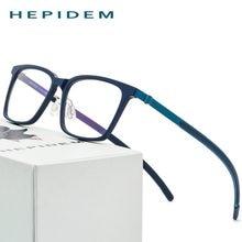 B Titânio Óculos de Armação de acetato Mulheres Ultraleves Prescrição  Óculos Homens 2018 Óculos de Miopia Óptico Sem Parafusos 4acfe495ae