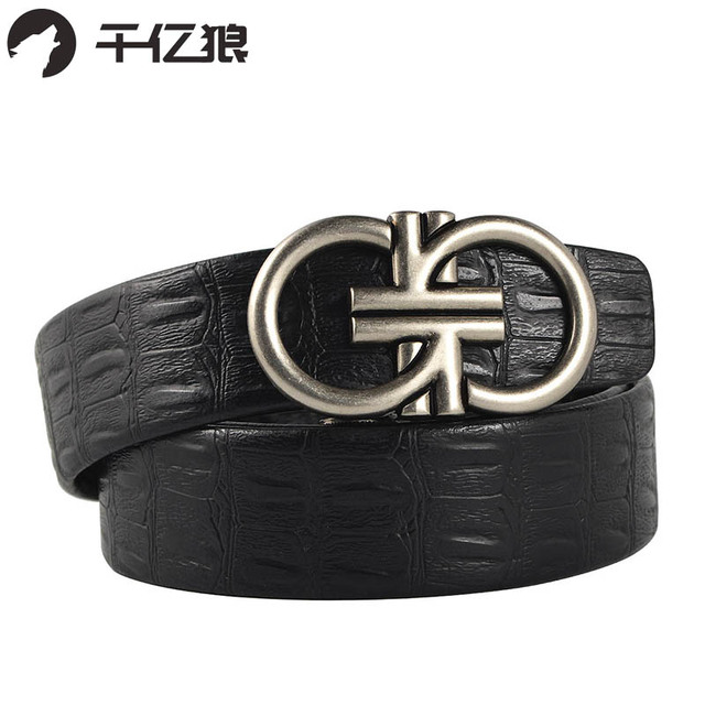 b4cf4bcf8a0db Cuir artificiel hommes ceinture Vintage mode ancien alliage boucle hommes  ceinture automatique boucle ceinture Double G