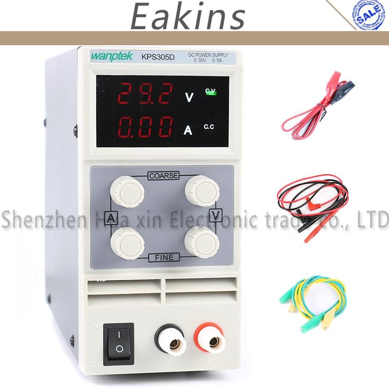 305D 305DF Adjustable High Precision LED display switch Lab DC Power Supply Protection Function 30V 5A 110V 230V 0.1V/0.01A EU