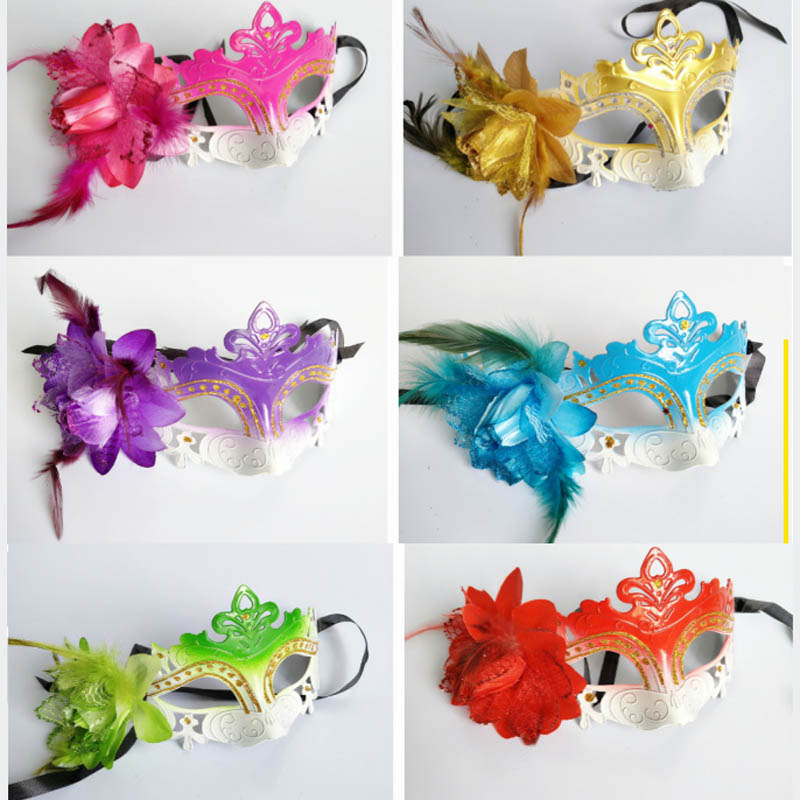 children adult Halloween cosplay Party princess masks with flower Masquerade Masks Venetian Masks,very beautiful