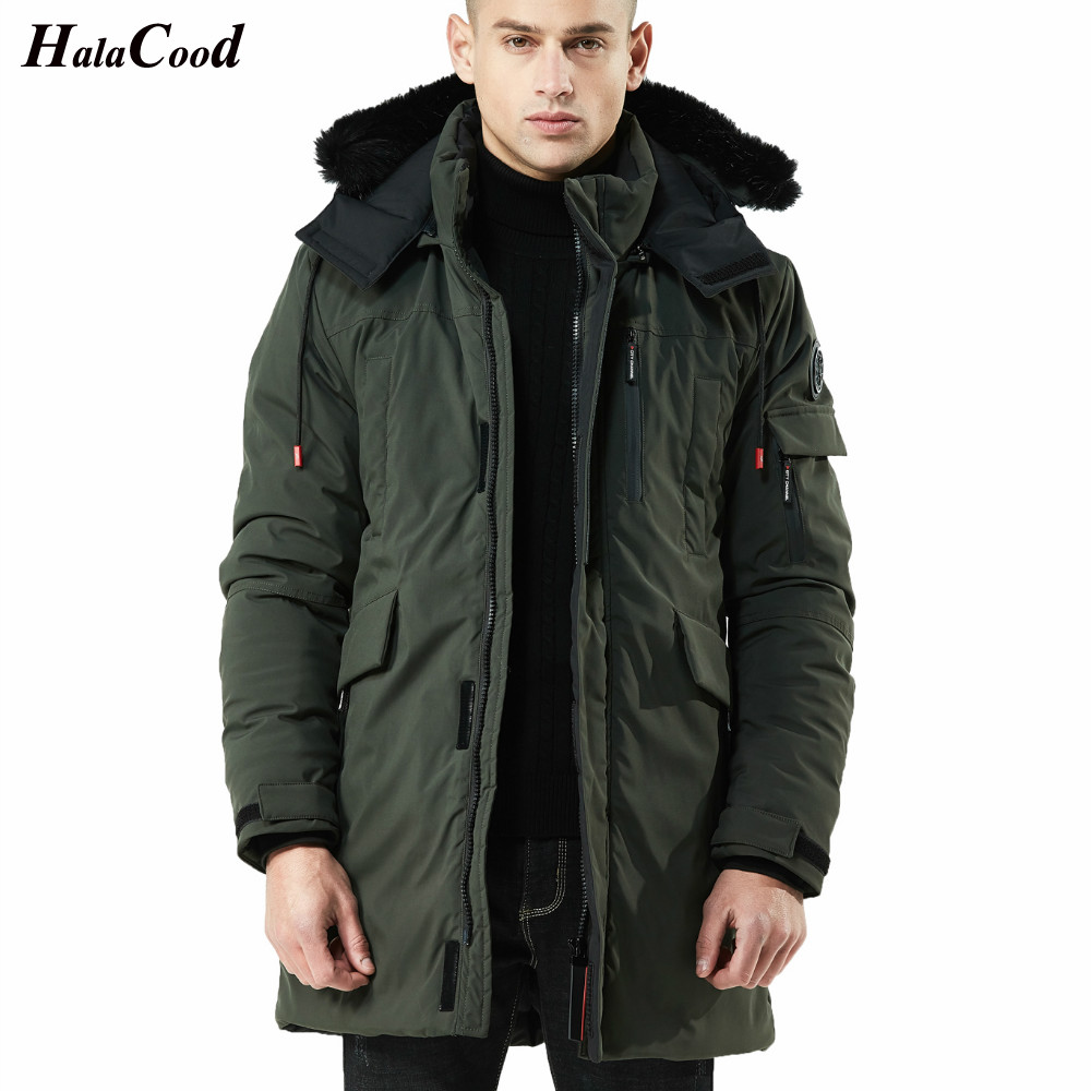 Hot Sell Male Winter Wram   Parka   Army Green Quality Jacket Men Fashion Casual Loose Mens Jacket Sportswear Jacket Mens Long Coats