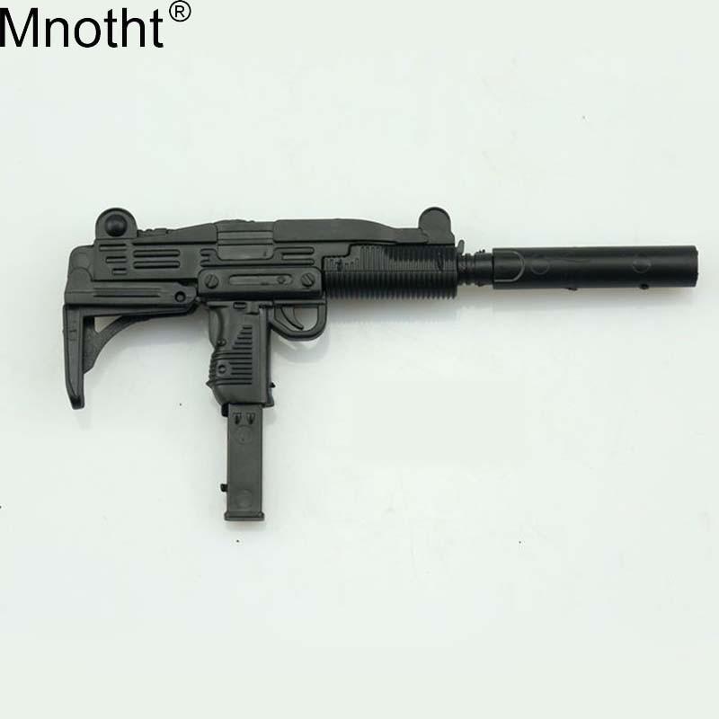 Mnotht 1 6 Soldier 4D Assembled Puzzle Gun Model Jedi Survival UZI Submachine Toy For