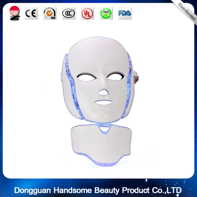 Wrinkle Removal Beauty Machine PDT Anti-Aging Mask Therapy Photon Device 7 Colors LED Facial Mask Skin Rejuvenation Electric