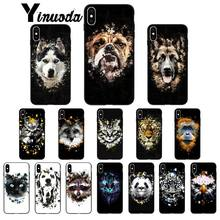 Yinuoda Animal Dog Tiger Panda Wolf Art Coque Shell Phone Case for Apple iPhone 8 7 6 6S Plus X XS MAX 5 5S SE XR Mobile Cover(China)