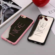 JAMULAR NICE Shockproof Rubber Case for iPhone X 7 6 6s Plus SE 5S Mirror Cover Smile Face Covers for iPhone 8 6 6s 7 Plus Cases