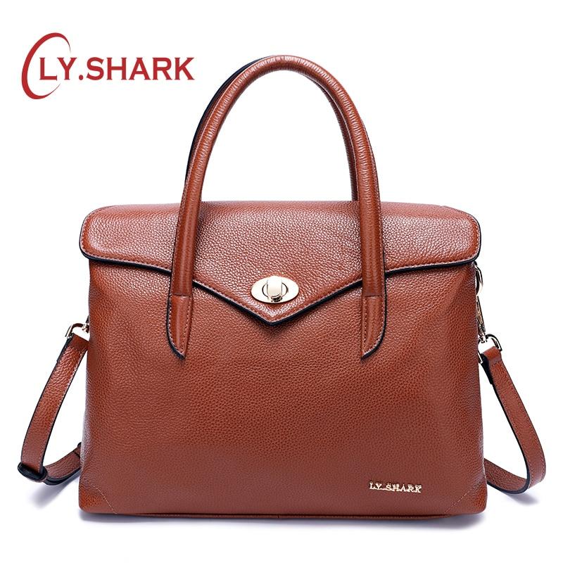 LY.SHARK Messenger Bag Women Bag Ladies Genuine Leather Handbag Women Shoulder Bag For Female Bags Women Handbags For Women 2018 lomond fine art metallic