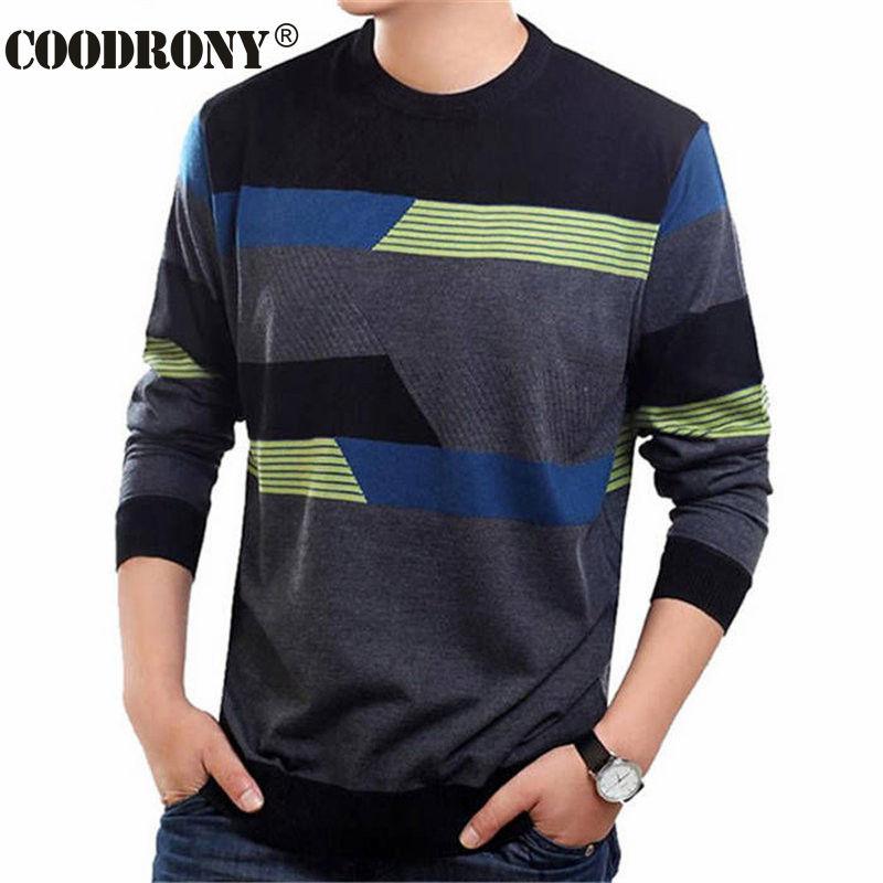 COODRONY o-Cuello suéter de los hombres vestido Casual ropa de marca para hombre suéteres de Cachemira jersey de lana de los hombres camisa de manga larga para hombre 19