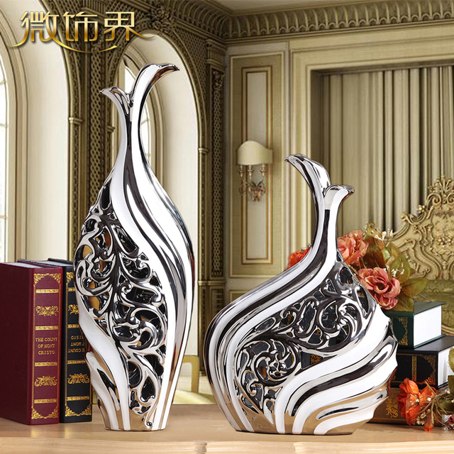 European style ceramic floor vases Decoration living room TV cabinet
