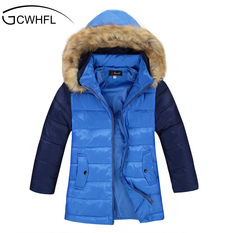 High Quality Boys Thick Down Jacket 2018 Winter New Children Warm Detachable Cap Coat Clothing Kids Hooded Down Outerwear 5 14y high quality boys thick down jacket 2016 new winter children long sections warm coat clothing boys hooded down outerwear