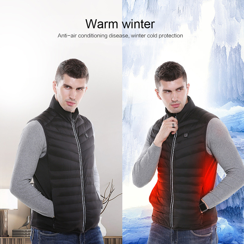 Smart Charging electric heated jacket Vest Warm Heating Cott…