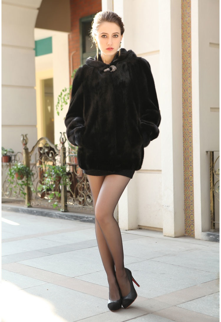 2017 winter warm mink Fur Overcoat mink Hair lady Cape short coat Imitation Fur With high quality Female Winter Warm parka ...