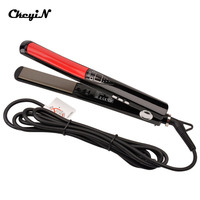 LCD Display Titanium Plates Flat Iron Straightening Irons Styling Tools Professional Hair Straightener Floating Ceramic Plate