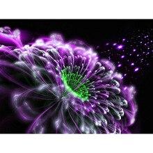 Diamond embroidery purple magic flower needlework cross stitch set full square diamond diy  painting BK-4721