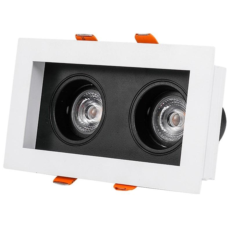 SCON 10 ワットの二重ヘッド LED COB CREE スポットライト組み込み天井ダウンライト容易メンテナンス商業照明 3500 18k ムーンライト  グループ上の ライト & 照明 からの LED ダウンライト の中 1