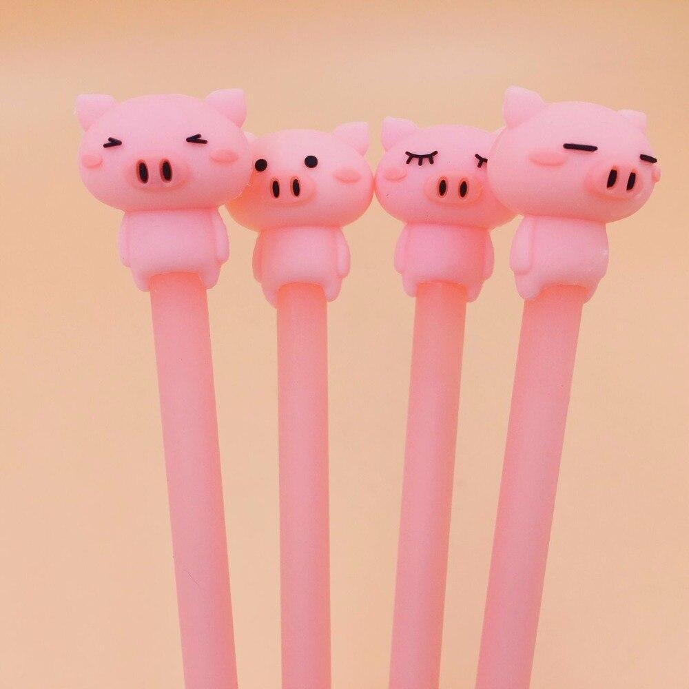 porco boneca silicone gel caneta unissex canetas