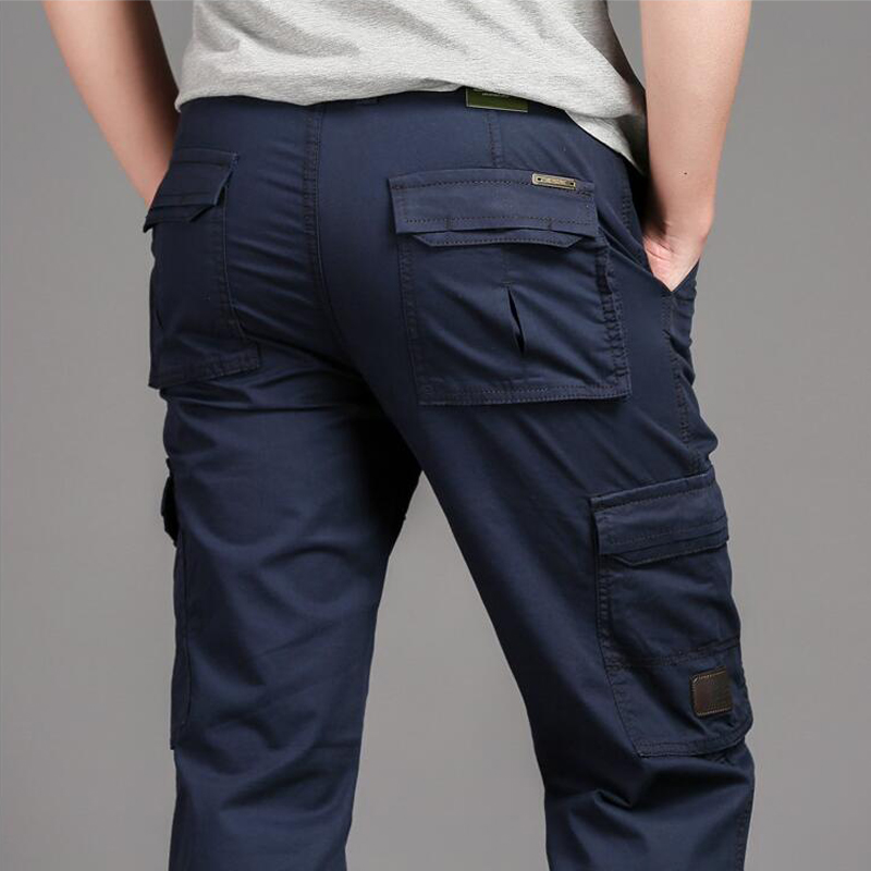 Multi Pocket Work Cotton Long Trousers Tactical Military Cargo Pants Men SWAT Special Force Army Combat Casual Thin Pants