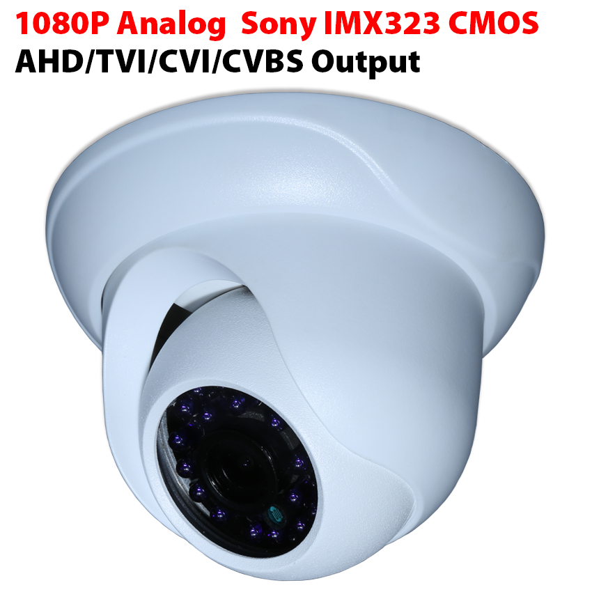 HD Analog Home Security Video Camera 2.0MP/1080P Sony IMX323 CMOS  24LED aluminium alloy Dome Camera TVI/AHD/CVI/CVBS Output 4 in 1 ir high speed dome camera ahd tvi cvi cvbs 1080p output ir night vision 150m ptz dome camera with wiper