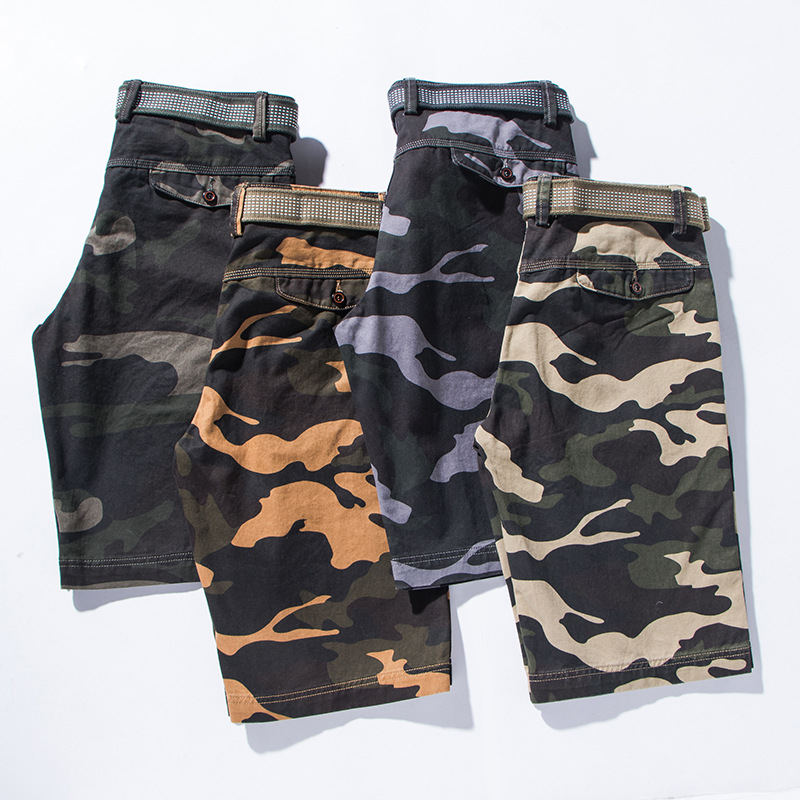 6be916b37fc Summer 2019 Men Shorts Men s Casual Camouflage Cargo Shorts Male Army Work  Shorts Homme Cotton multi