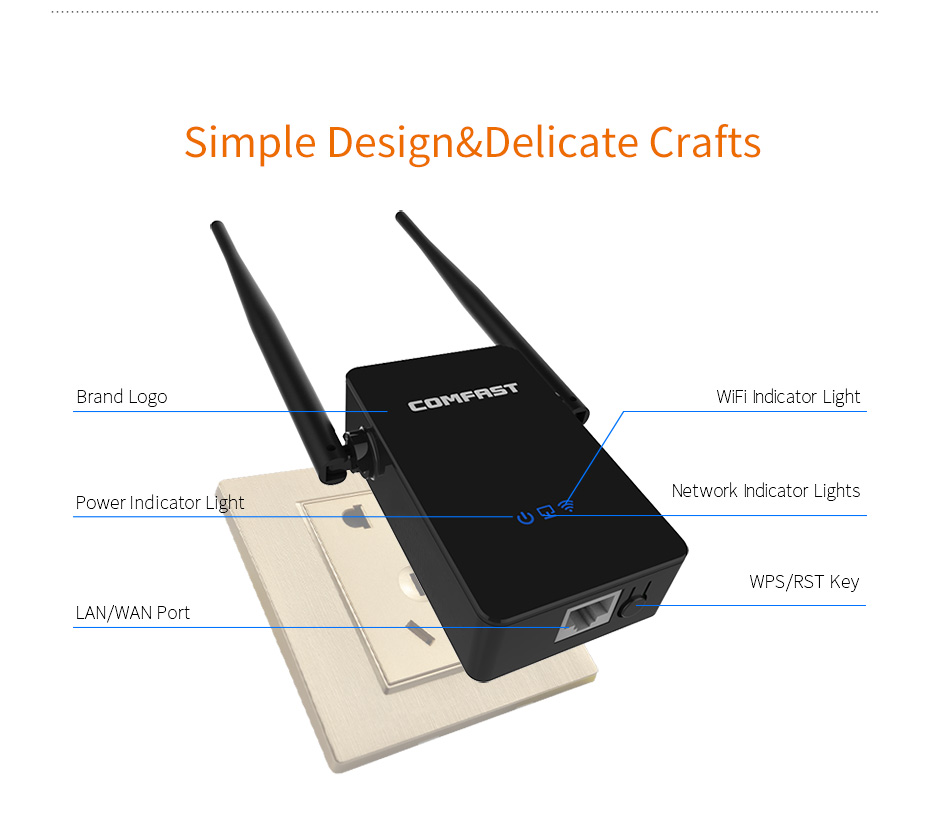 10pcs Cheap COMFAST Wireless Router Wi-fi Repeater 300mbps English Firmware 2.4Ghz Wifi Amplifier Signal Range ExtenderCF-WR302S